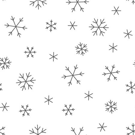 christmas snowflakes: Seamless pattern with Christmas snowflakes