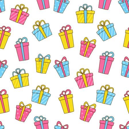 wallpapers: Seamless pattern with color gifts