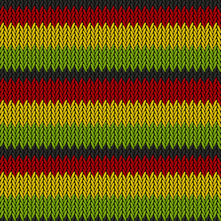 rasta colors: Seamless knitted reggae pattern for Your design