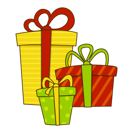 gift boxes: Doodle gift boxes for Your design