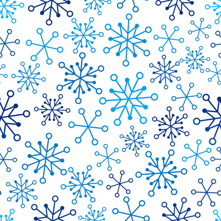abstract seamless pattern: Seamless pattern with Christmas snowflakes