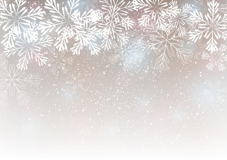 あなたのデザインのスノーフレーク背景  イラスト・ベクター素材