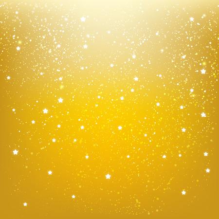 stars  background: Shiny stars on golden background