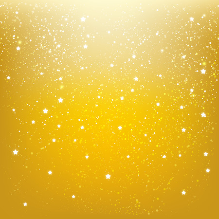 Shiny stars on golden background