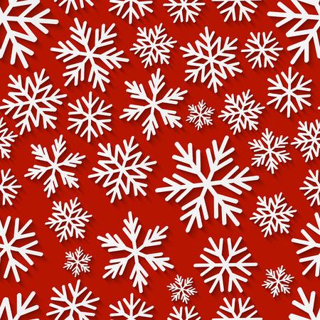 schneeflocke: Nahtloses Muster mit Papier Schneeflocken Illustration