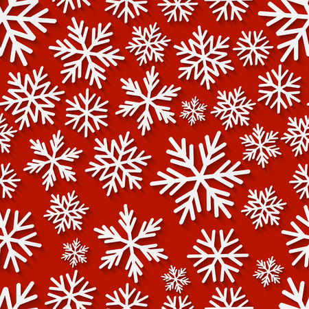 snowflake: Seamless pattern with paper snowflakes