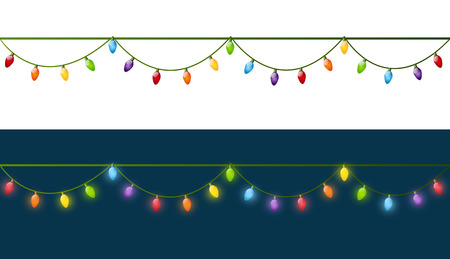 vectors: Christmas light bulbs for Your design