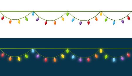 Gloeilampen van Kerstmis voor uw ontwerp Stock Illustratie