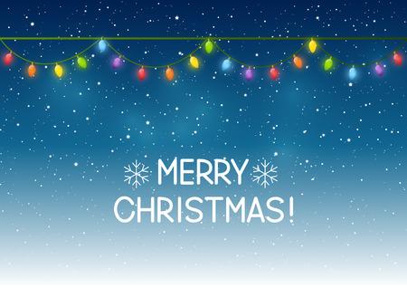 Luci di Natale su cielo notturno sfondo Archivio Fotografico - 46633805