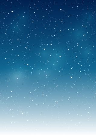navidad: Fondo del cielo estrellado por su diseño Vectores