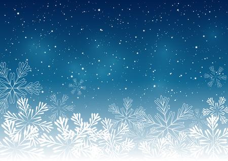diciembre: Navidad fondo copos de nieve para su diseño