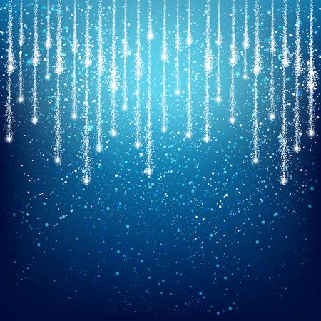 blue christmas background: Shiny light background for Your design Illustration