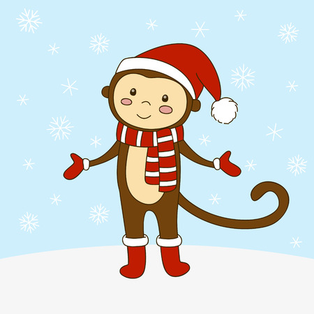 cute monkey: Cute cartoon monkey for Your design Illustration