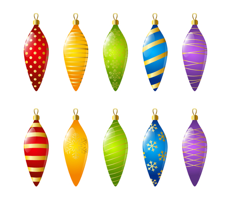 Set of Christmas decorations for Your design