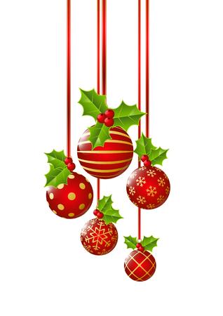 Christmas balls isolated on white  イラスト・ベクター素材