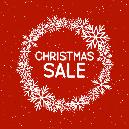 christmas sale: Christmas sale concept for Your design Illustration