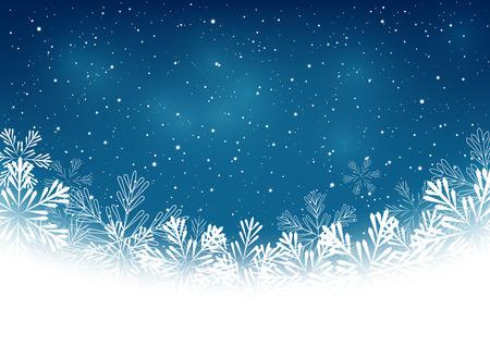 copo de nieve: Los copos de nieve de Navidad sobre fondo azul Vectores