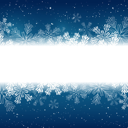 ornaments vector: Christmas snowflakes border  for Your design