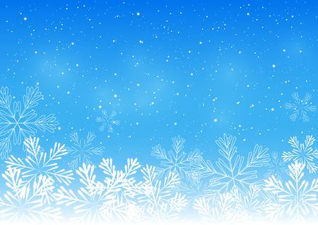 christmas snowflakes: Christmas snowflakes on blue background