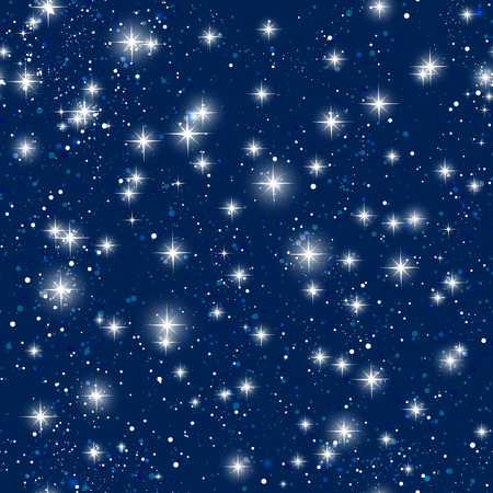 blue star: Seamless pattern with shiny stars