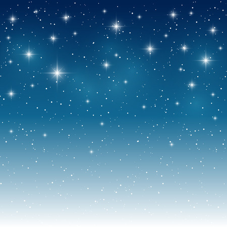 blue stars: Starry light background for Your design Illustration