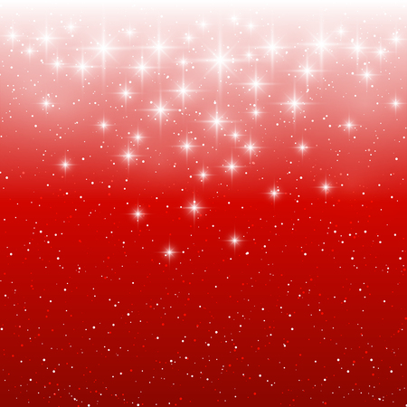 red christmas background: Starry light background for Your design Illustration