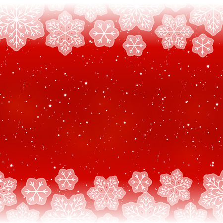 red wallpaper: White snowflakes on red background