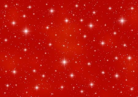 rojo: Fondo del cielo estrellado por su diseño Vectores