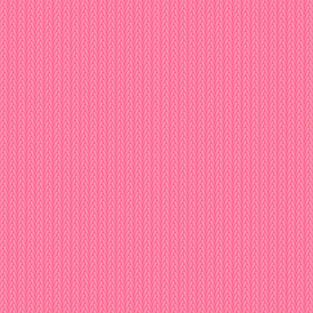 vector fabric: Pink knitted background for Your design Illustration