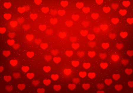 shiny hearts: Shiny hearts on red background
