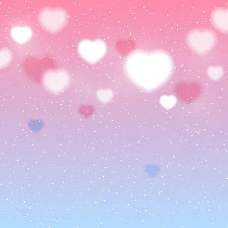 corazones azules: Shiny hearts background for Your design