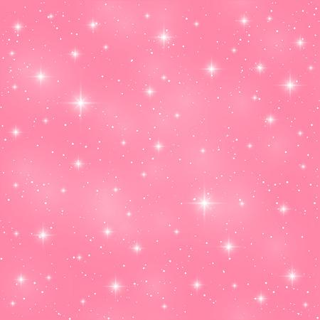 光沢のある星とのシームレスなパターン  イラスト・ベクター素材