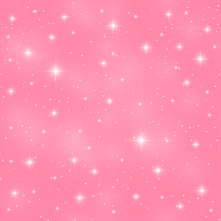 sparkle background: Seamless pattern with shiny stars