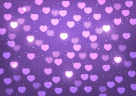 shiny hearts: Shiny hearts on purple background