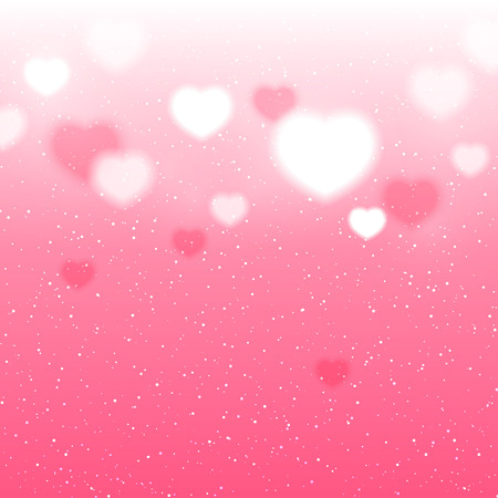 pink wallpaper: Shiny hearts background for Your design