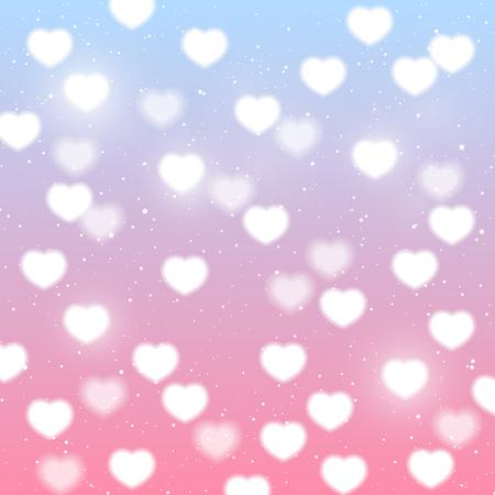 corazones azules: Fondo brillante del corazón para su diseño Vectores