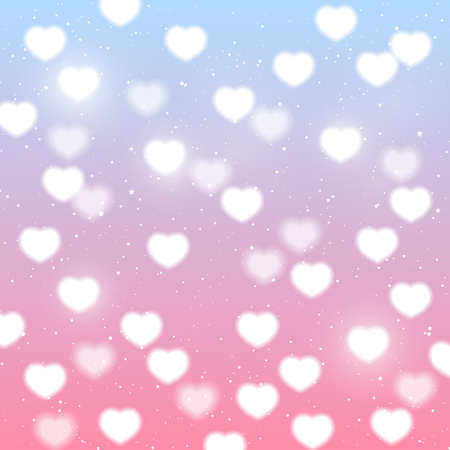 blue light background: Shiny hearts background for Your design