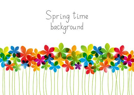 floral border: Rainbow floral border for Your design