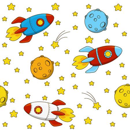 mosca caricatura: sin patr�n, con cohetes de color