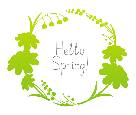 text frame: Spring floral frame with place for Your text Illustration