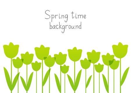 tulipan: sylwetki Tulipany dla projektu wiosny Ilustracja