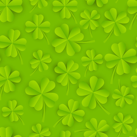 seamless clover: Seamless pattern with paper clover