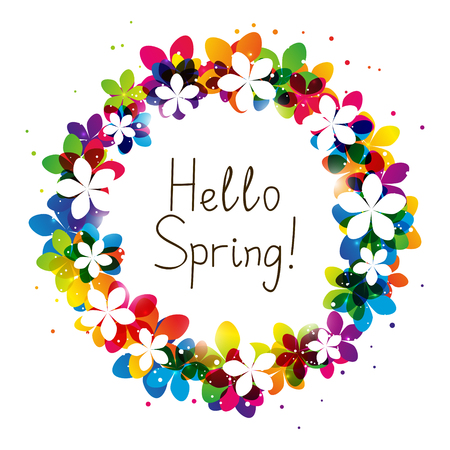 place for your text: Spring floral frame with place for Your text Illustration