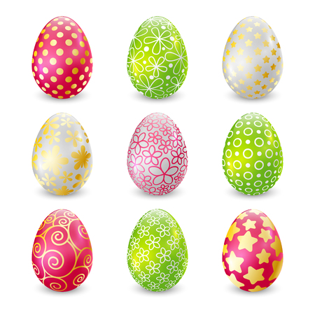 Set of Easter eggs for Your design  イラスト・ベクター素材