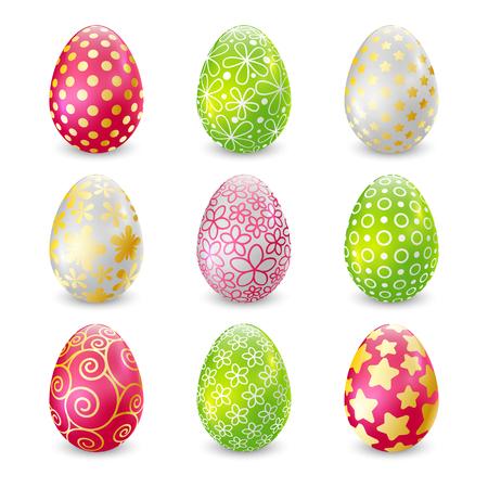 Set of Easter eggs for Your design Illustration