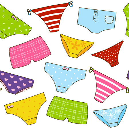knickers: Seamless pattern with color panties