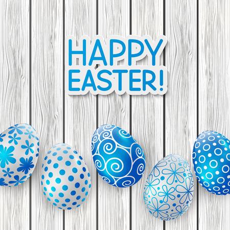 tarjeta de felicitación de Pascua con huevos de color