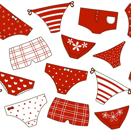 knickers: Seamless pattern with cute panties Illustration