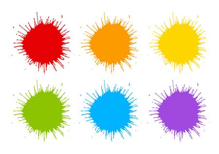 Jeu de couleurs éclaboussures de peinture