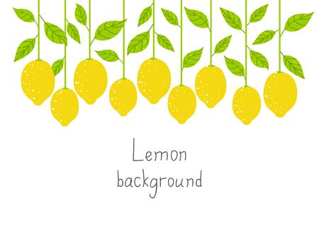 Lemon background for Your design  イラスト・ベクター素材